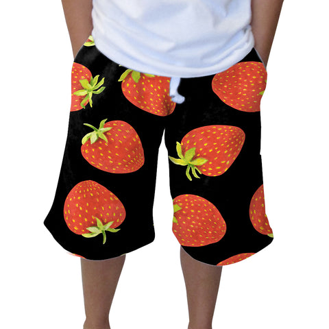 Strawberry Fun Knee Length Short