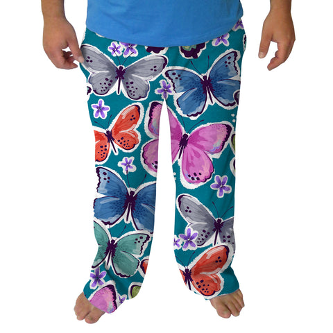 Wild Butterlfies Mens Adult Pant