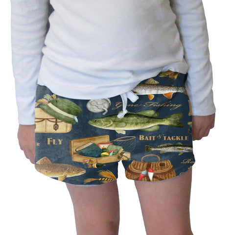 Gone Fishing Womens Short Short