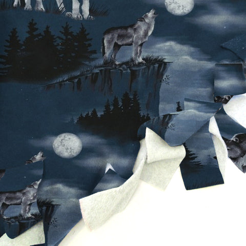 Howling Wolves  Blanket Tie Kit