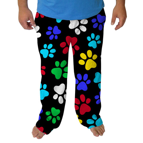 MULTI COLOR PAWS MENS ADULT PANT