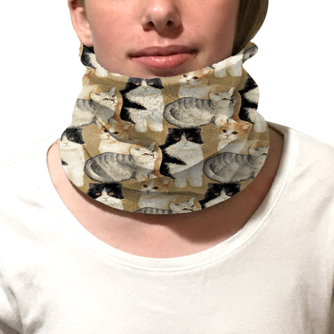 Cat Collage Youth and Adult Neck Warmer