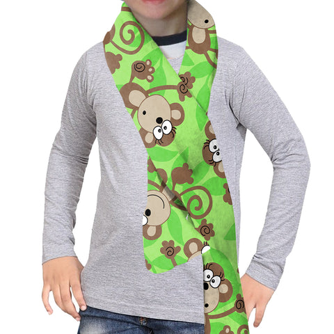MONKEY BUSINESS SCARF - DOUBLE SIDED
