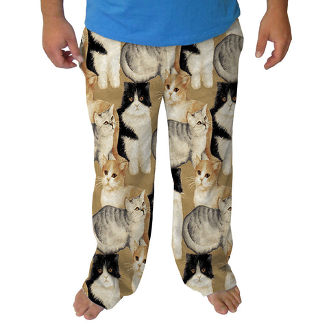 Cat Collage Mens Adult Pant