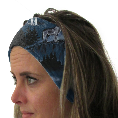 Howling Wolves Youth and Adult Head Band