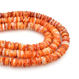 Bluejoy 8mm Genuine Native American Style Natural Spiny Oyster Shell Standard Free-Form Disc Bead 16-inch Strand