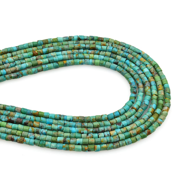 Bluejoy 2mm Genuine Indian-Style Natural Turquoise Dainty Heishi Bead 16-inch Strand