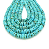 Genuine Natural American Turquoise Graduated Button Bead 16 inch Strand (3-10mm)