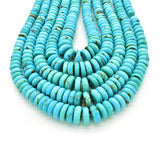 Genuine Natural American Turquoise Graduated Button Bead 16 inch Strand (6-12mm)