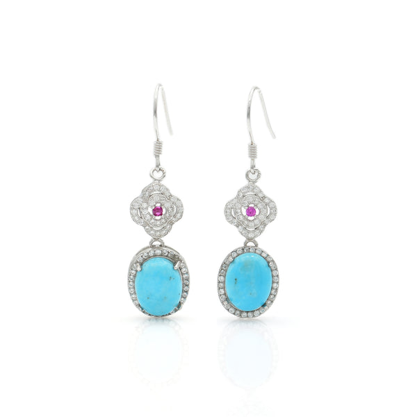 Turquoise Earring 11x23mm