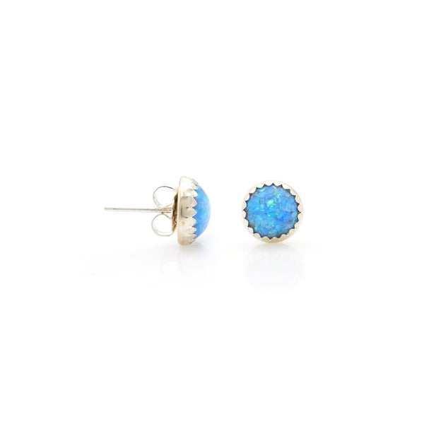 Lab Opal Ear Stud 8mm