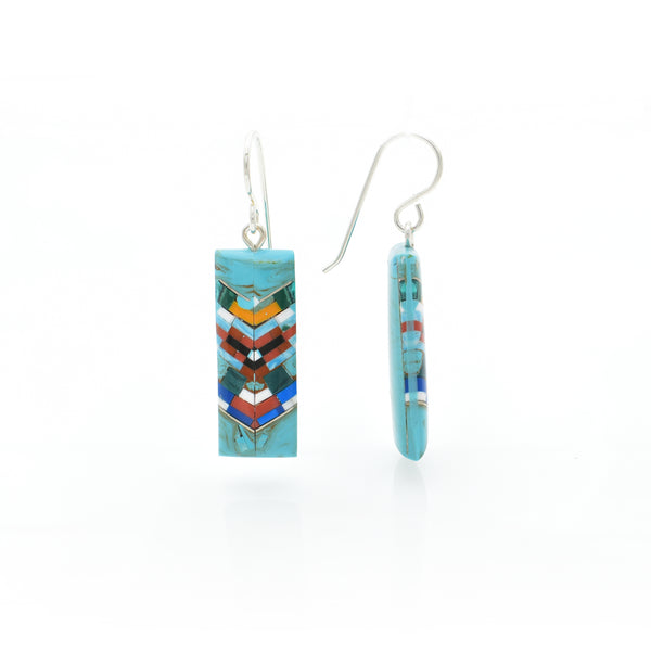 Turquoise Earring 10x21mm