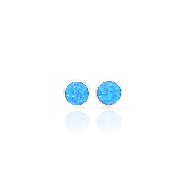 Lab Opal Ear Stud 7mm