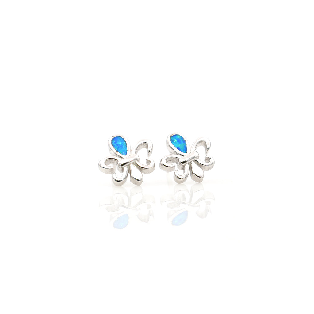 Lab Opal Ear Stud 11x11mm