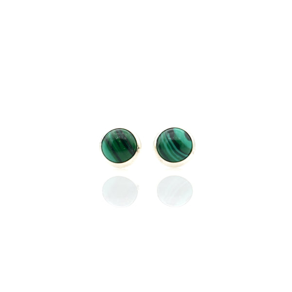 Malachite Ear Stud 5mm