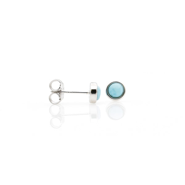 Larimar Ear Stud 5mm