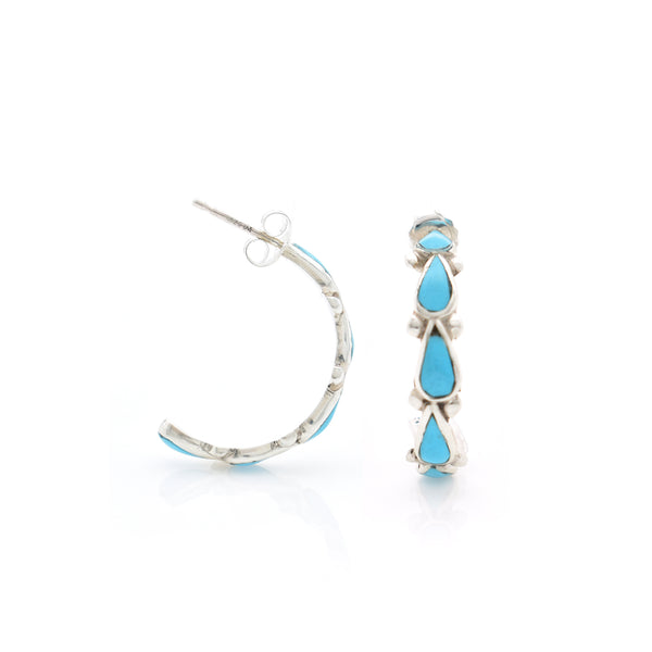 Turquoise Ear Stud 4X22mm