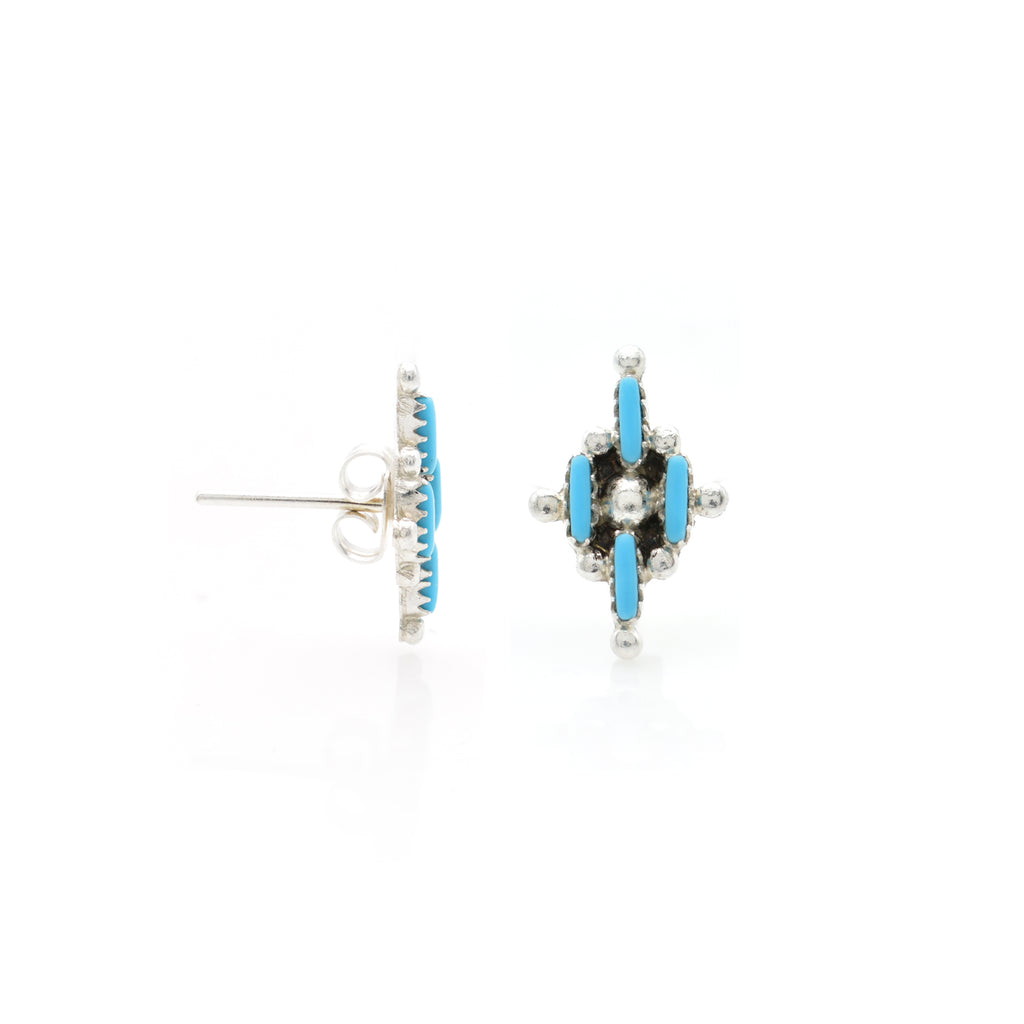 Turquoise Ear Stud 9x15mm