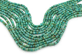 6mm Turquoise Round-Flat Bead, 16'' Strand, A201RB1128