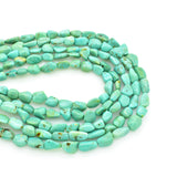 Genuine Natural American Turquoise Nugget Bead 16 inch Strand (4x6mm)