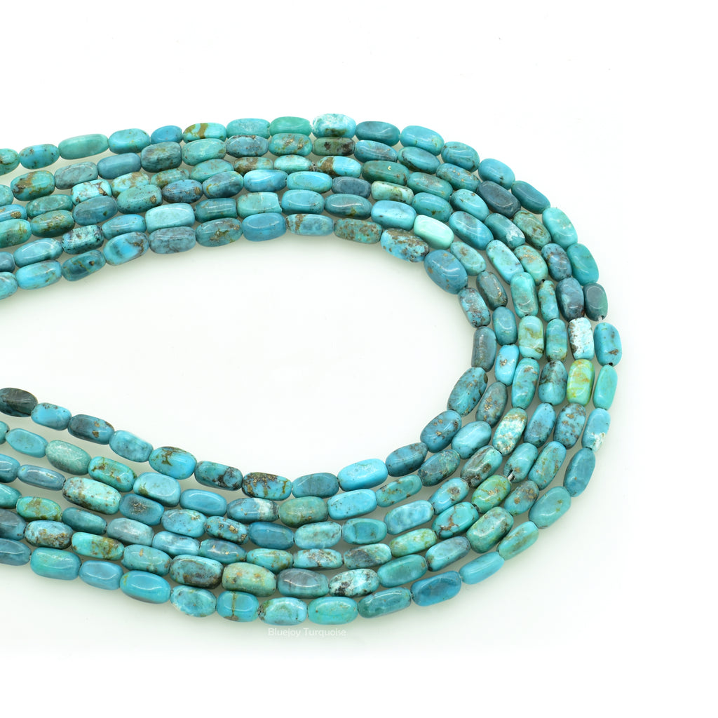 Genuine Natural American Turquoise Bar Shape Bead 16 inch Strand (3x6mm)