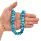 Bluejoy Genuine Indian-Style Natural Turquoise XL Free-Form Disc Bead 16-inch Strand (16mm)
