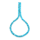 Bluejoy Genuine Indian-Style Natural Turquoise Free-Form Disc Bead 16-inch Strand (7mm)
