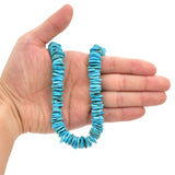 Bluejoy Genuine Indian-Style Natural Turquoise XL Free-Form Disc Bead 16-inch Strand (14mm)
