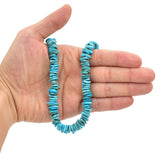 Bluejoy Genuine Indian-Style Natural Turquoise XL Free-Form Disc Bead 16-inch Strand (9mm)