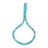 Bluejoy Genuine Indian-Style Natural Turquoise Free-Form Disc Bead 16-inch Strand (5mm)