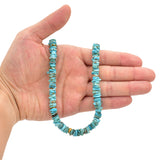 Bluejoy Genuine Indian-Style Natural Turquoise Free-Form Disc Bead 16-inch Strand (8mm)