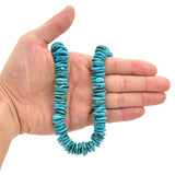 Bluejoy Genuine Indian-Style Natural Turquoise XL Free-Form Disc Bead 16-inch Strand (15mm)
