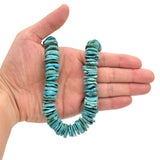 Bluejoy Genuine Indian-Style Natural Turquoise XL Free-Form Disc Bead 16-inch Strand (17mm)