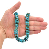 Bluejoy Genuine Indian-Style Natural Turquoise XL Free-Form Disc Bead 16-inch Strand (13mm)