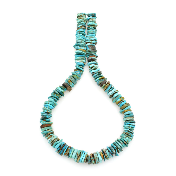 Bluejoy Genuine Indian-Style Natural Turquoise XL Free-Form Disc Bead 16-inch Strand (12mm)