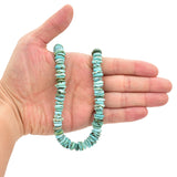 Bluejoy Genuine Indian-Style Natural Turquoise XL Free-Form Disc Bead 16-inch Strand (10mm)