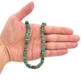 Bluejoy Genuine Indian-Style Natural Turquoise Free-Form Disc Bead 16-inch Strand (9mm)