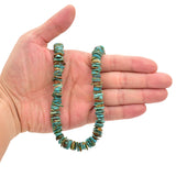 Bluejoy Genuine Indian-Style Natural Turquoise XL Free-Form Disc Bead 16-inch Strand (11mm)