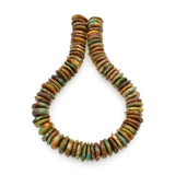 Bluejoy Genuine Indian-Style Natural Turquoise XL Free-Form Disc Bead 16-inch Strand (20mm)