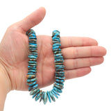 Bluejoy Genuine Indian-Style Natural Turquoise XL Graduated Free-Form Disc Bead 16-inch Strand (8mm-22mm)