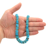 Bluejoy Genuine Indian-Style Natural Turquoise XL Graduated Free-Form Disc Bead 16-inch Strand (8mm-13mm)
