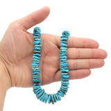 Bluejoy Genuine Indian-Style Natural Turquoise XL Graduated Free-Form Disc Bead 16-inch Strand (9mm-19mm)