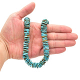 Bluejoy 14mm Genuine Indian-Style Natural Turquoise XL Free-Form Thin Disc Bead 16-inch Strand