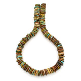 Bluejoy 16mm Genuine Indian-Style Natural Turquoise XL Free-Form Thin Disc Bead 16-inch Strand
