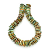 Bluejoy 24mm Genuine Indian-Style Natural Turquoise XL Free-Form Thin Disc Bead 16-inch Strand