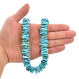 Bluejoy Genuine Indian-Style Natural Turquoise XL Free-Form Flat Disc Bead 16-inch Strand (18mm)