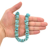 Bluejoy Genuine Indian-Style Natural Turquoise XL Free-Form Flat Disc Bead 16-inch Strand (15mm)