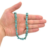 Bluejoy Genuine Indian-Style Natural Turquoise Free-Form Flat Disc Bead 16-inch Strand (7mm)