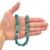 Bluejoy Genuine Indian-Style Natural Turquoise XL Free-Form Flat Disc Bead 16-inch Strand (11mm)