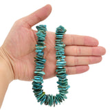 Bluejoy Genuine Indian-Style Natural Turquoise XL Graduated Free-Form Flat Disc Bead 18-inch Strand (13mm-22mm)